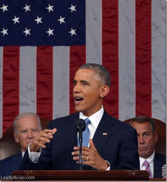 Estado de la Unión: Los 15 temas clave del discurso de Obama ante el Congreso estadounidense - http://www.leanoticias.com/2015/01/21/estado-de-la-union-los-15-temas-clave-del-discurso-de-obama-ante-el-congreso-estadounidense/
