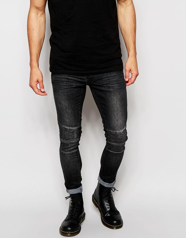 ASOS Super Skinny Jeans With Panel Detail