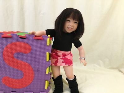 """Lifelike Reborn Child Doll - Freckles by Pat Secrist - Custom Doll Baby 18"""" American Girl Compatible"""
