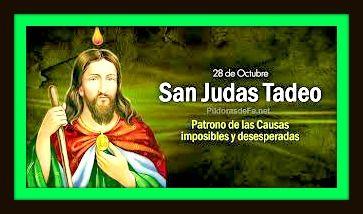 28 de octubre san judas tadeo patrono causas imposibles