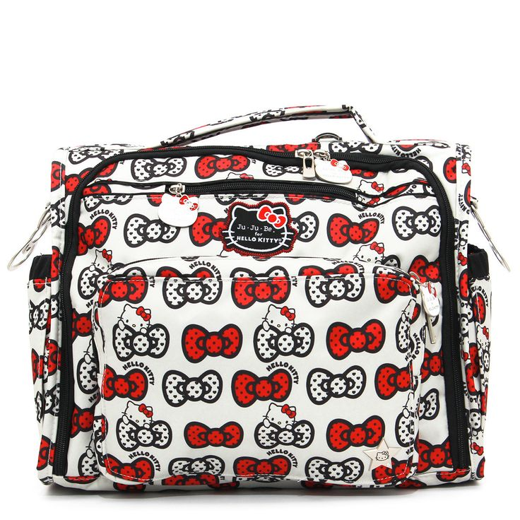 Jujube BFF Hello Kitty Collection Convertible Diaper Bag - Peek A Bow This bag will be your BFF. It has tons of pockets and organization...so much you won't know what to do with it all. Is she flexibl