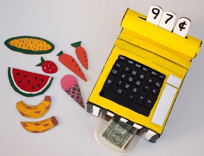 Diy Cardboard Cash Register Guest Pinner Cool Mom Picks Pinterest Box Crafts For Kids And