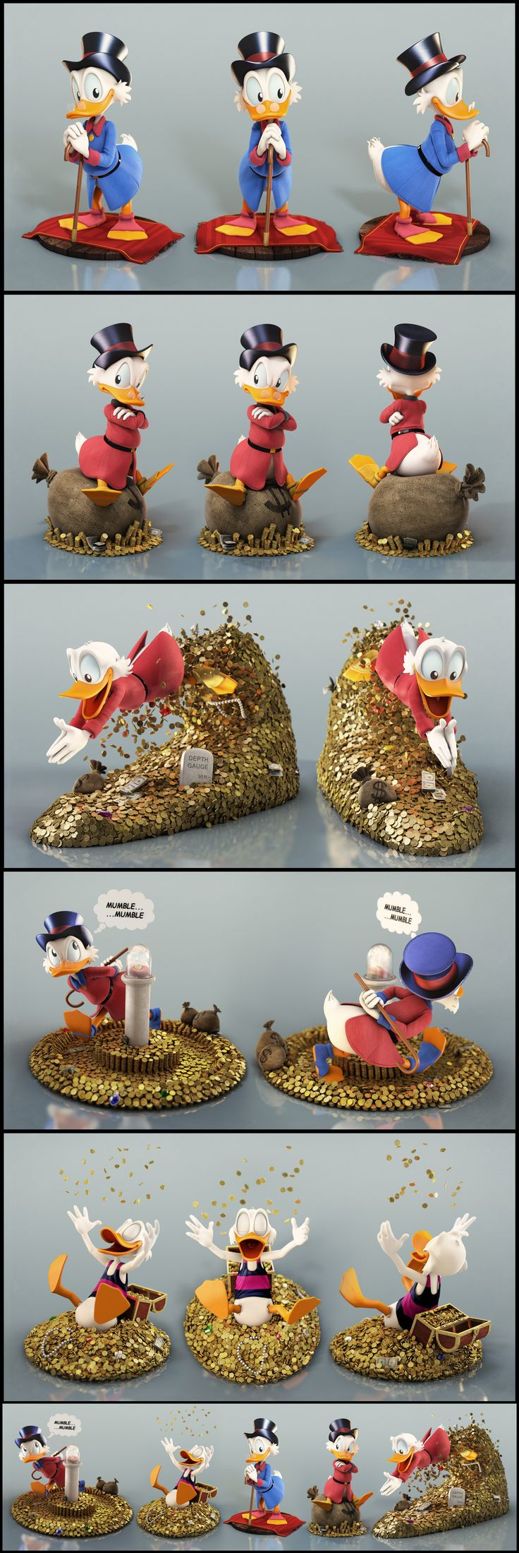 Uncle Scrooge by Eder Carfagnini 1920px X 5738px
