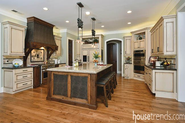 Beauty And Muscle With Distressed Hickory Flooring And