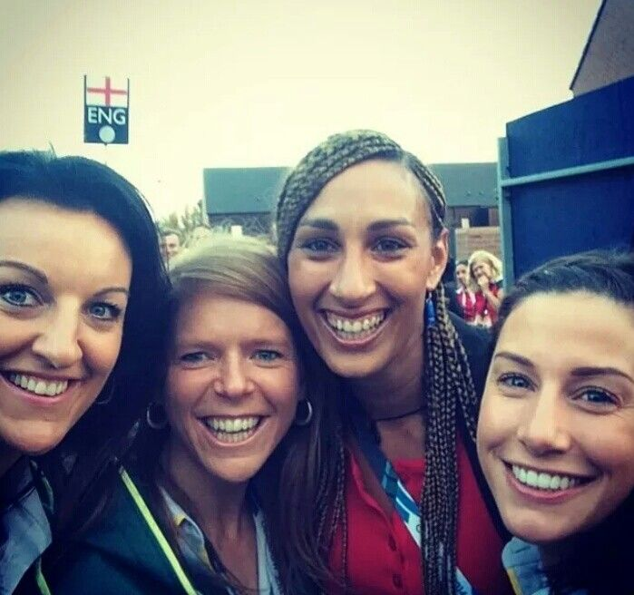 Vixens teammates at the Commonwealth Games opening ceremony Glasgow 2014.