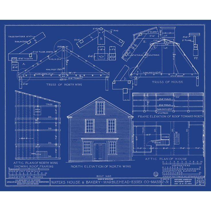 Gambrel Roof House Plans Architecture Art Blueprint