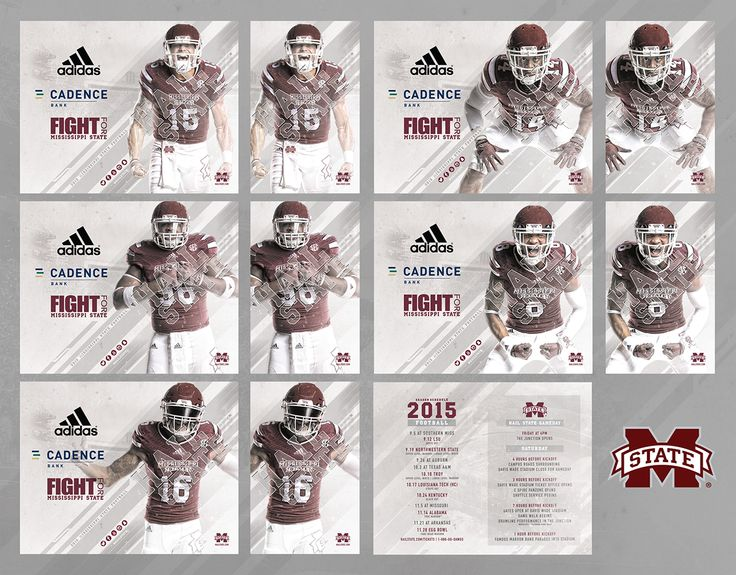 2015 Mississippi State Football Schedule Cards on Behance