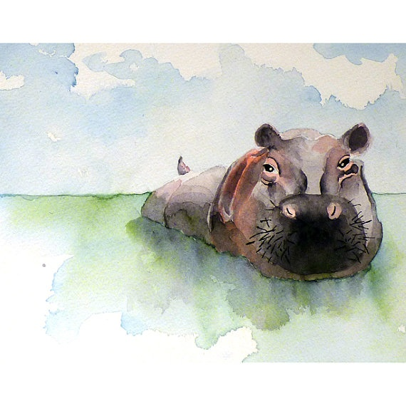 Hippo Art Images: 17 Best Images About Hippos On Pinterest