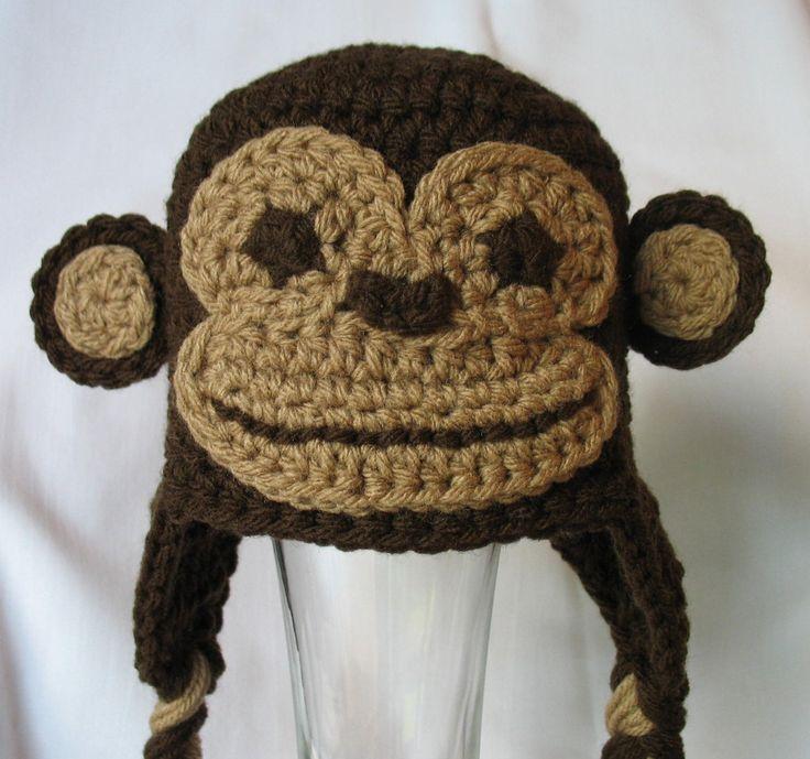 Monkey Hat Free Shipping Newborn Monkey Hat by DeesCozyCreations, $29.99