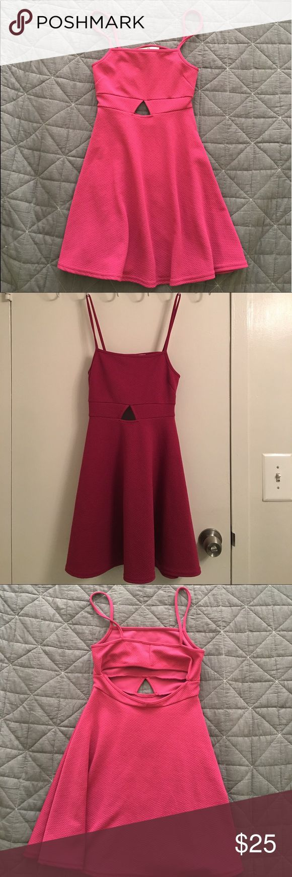 Urban Outfitters Cutout Skater Dress A fit&flare dress by OH MY LOVE (London). Worn only a couple times and in excellent condition. Very comfortable and not easy to get wrinkles. Urban Outfitters Dresses Mini