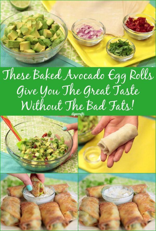 Delicious Avocado Egg Rolls – The Healthier Cheesecake Factory Alternative...