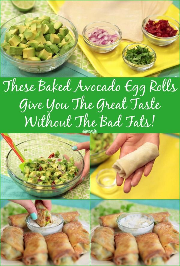 Delicious Avocado Egg Rolls – The Healthier Cheesecake Factory Alternative...