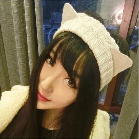 Knitted Cat Ear Head Band