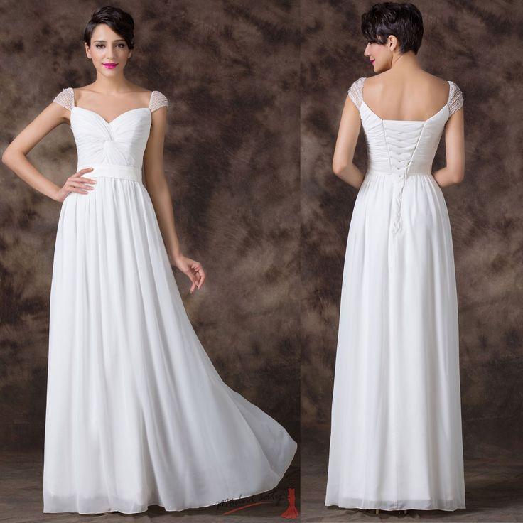 Bílé svatební šaty s rukávky