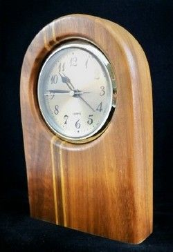 excellent wood clock | ... about Contemporary INLAID Solid WOOD Mantel, Shelf or Desk CLOCK U10