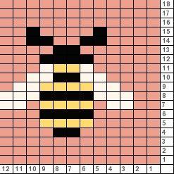 Fair Isle Charts: Tricksy Knitter Charts: Bee