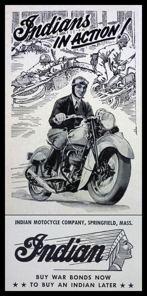 Racing Cafè: Vintage Brochures: Indian 1943 (Usa)