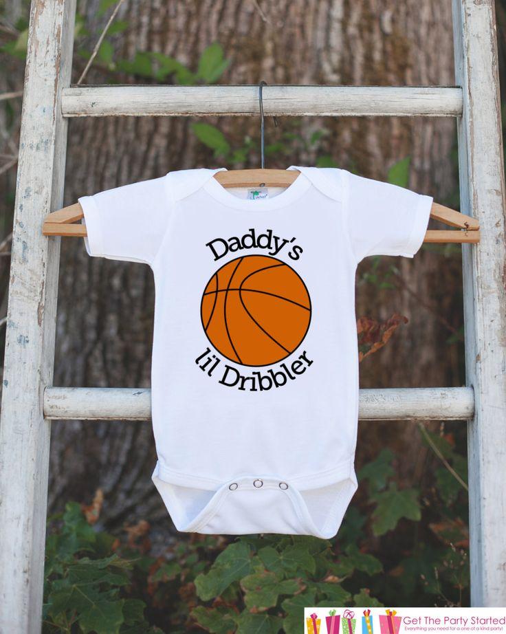 Daddy's Lil Dribbler Bodysuit - Basketball Onepiece Bodysuit - Basketball Outfit - Boys Romper - Novelty Basketball Baby Shower Gift