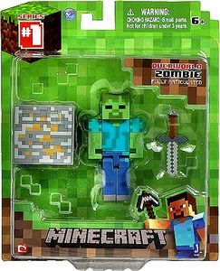Minecraft Jazwares Core Action Figure with Accessory ZOMBIE