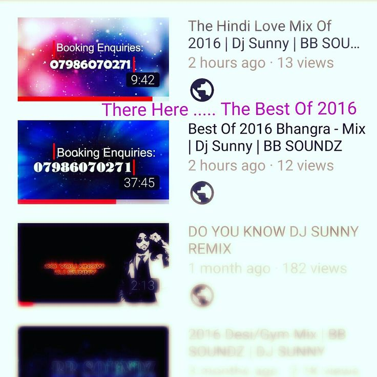 [The best Hindi and Punjabi mix i've ever listened to!!] ~ Check out Dj Sunny best of 2016 Mix's. Enjoy!! Available on both youtube and Soundcloud.  Youtube link: https://m.youtube.com/channel/UCvCa8OumJFKqsOhGfSlfjYQ  Soundcloud link: https://m.soundcloud.com/user-237232008 [Repin everyone !! Thanks❤]