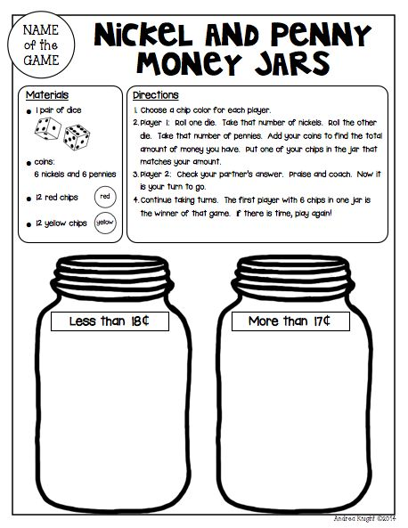 Math Games for Partners: Reproducible and Reusable Games for Reinforcing Skills {Grades 1-2} ... 26 games in all... great for math workshop, math centers, or as fun homework with a family member. (59 pages, $) #mathgames #homework #coins #mathcenters
