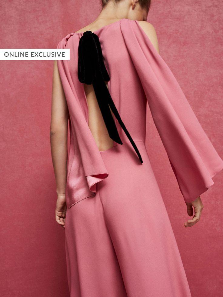 MACACÃO COM DETALHE DE PREGAS E MANGA LIMITED EDITION de NOVO - Women's Limited Edition da Massimo Dutti de outono inverno 2017 por 199. Elegância natural!