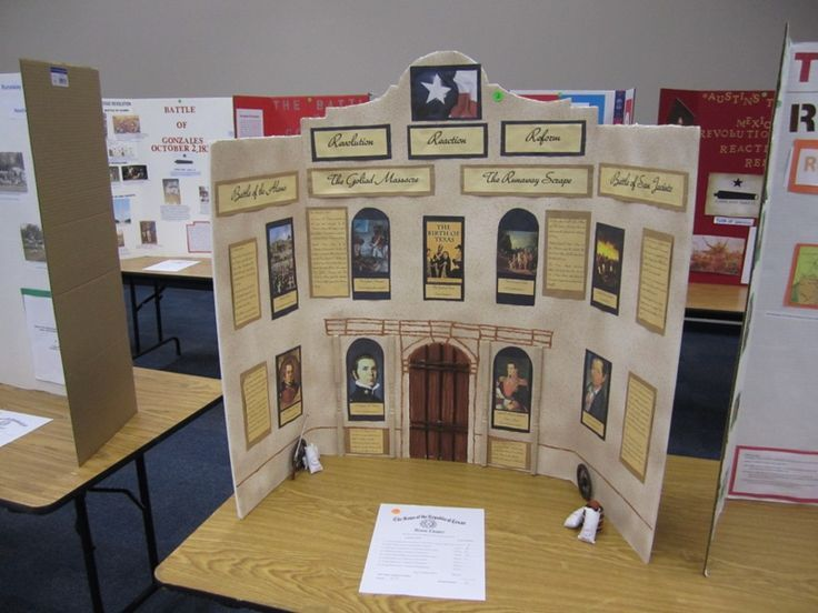 NHD national history day exhibit - this is a great example for kids of what a little extra detailing and time will do for a school project