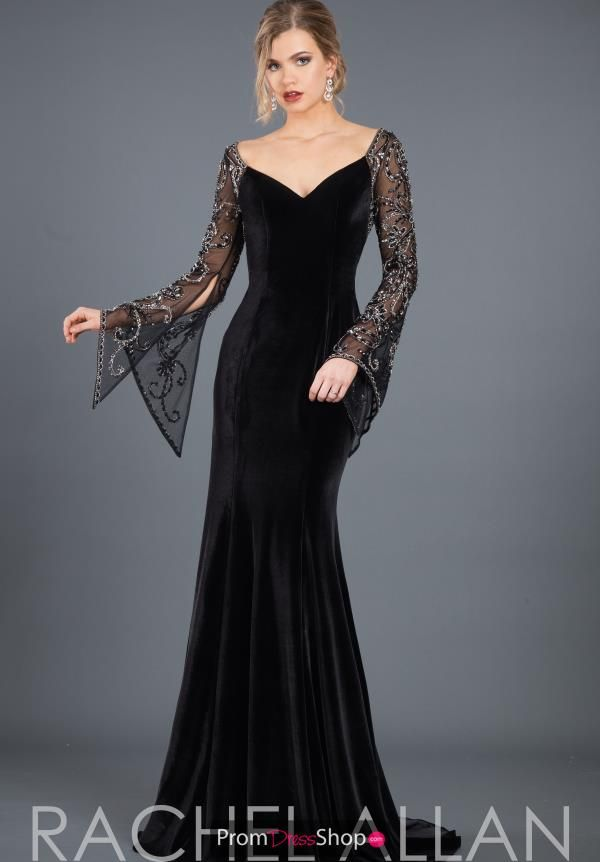 Make a stunning appearance at your black tie event in this mesmerizing Rachel Al…
