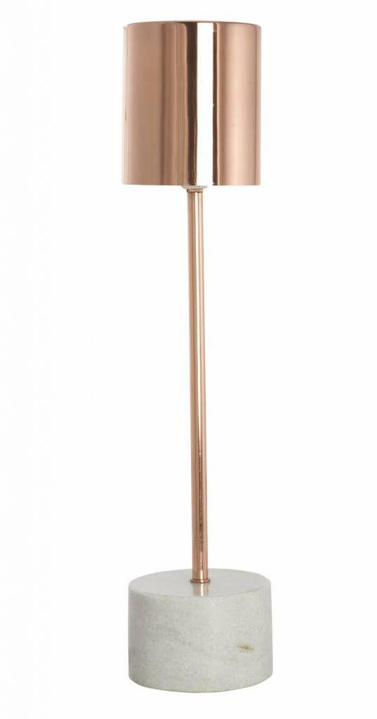 Housedoctor Tischlampe Marble aus Metall und Marmor, kupfer, 10,5 xH50cm