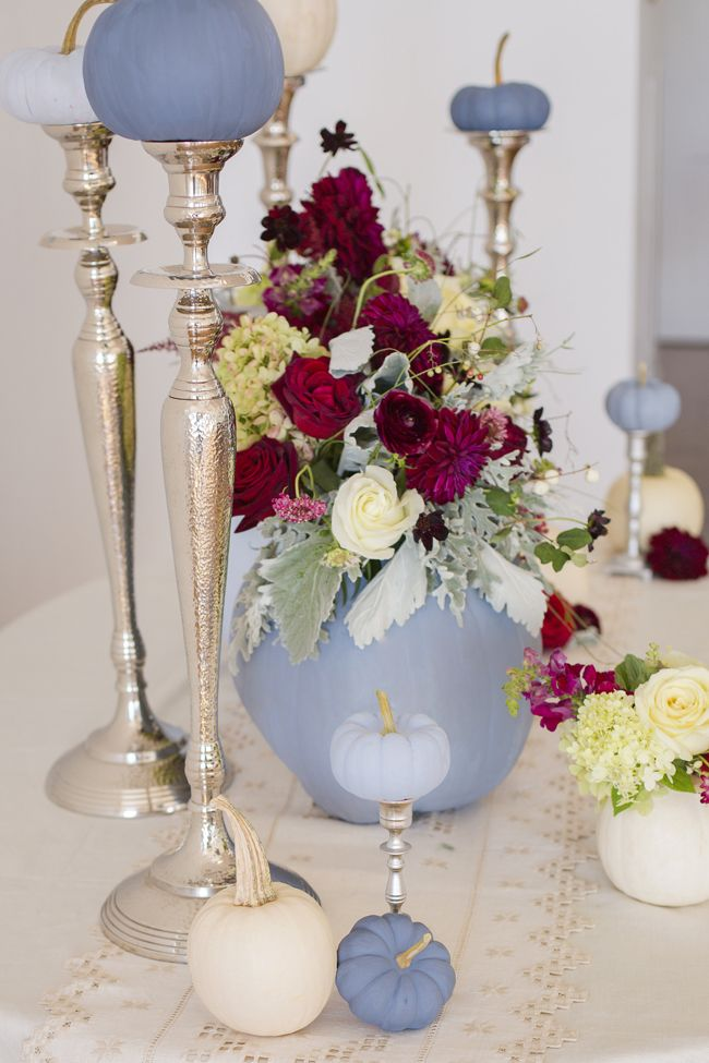 Dusty Blue and Cranberry Fall Decor | I Just Love ...