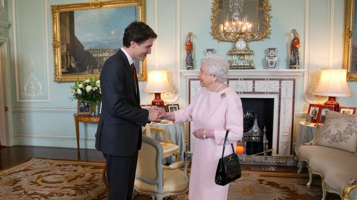Queen says it's 'extraordinary' to meet her 2nd Prime Minister Trudeau  (CBC News 25 November 2015)