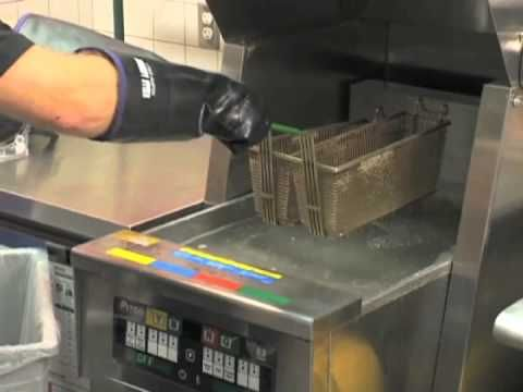 How to clean a commercial deep fryer & baskets - YouTube