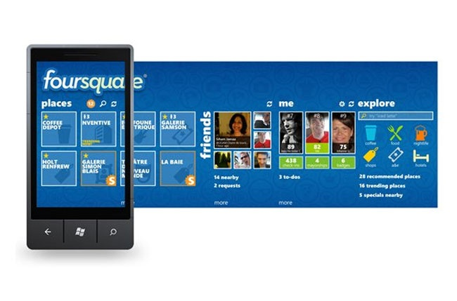 Foursquare Windows Phone App