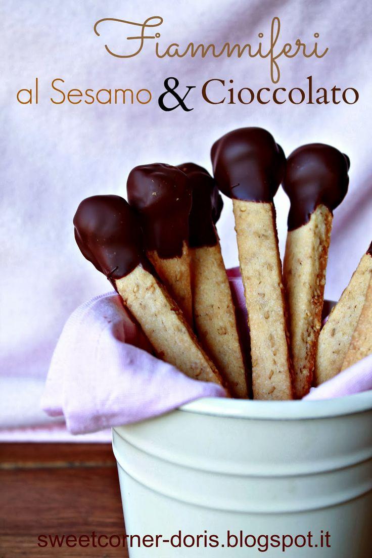 Fiammiferi al Sesamo e Cioccolato di Luca Montersino - sweetcorner doris