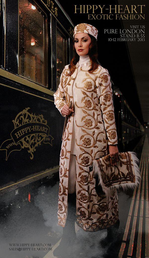 Maharani velvet long coat www.hippy-heart.com/eshop