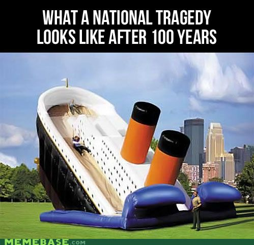 Fun times.: Summer Kids, Funny Things, Twin Towers, Titanic Sliding, Funny Stuff, National Tragedy, Inflatable Sliding, Kids Toys, 100 Years