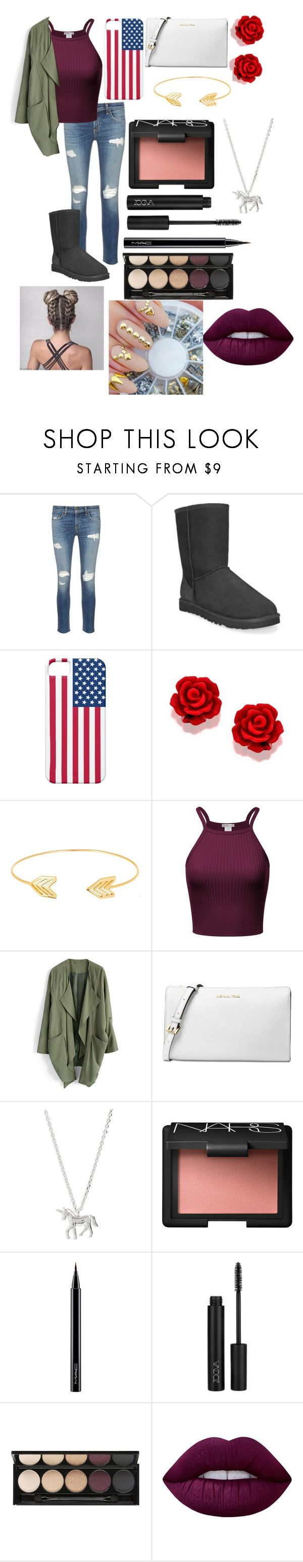 """Untitled #473"" by peanut03411 ❤ liked on Polyvore featuring rag & bone/JEAN, UGG Australia, Lord & Taylor, Chicwish, Michael Kors, Estella Bartlett, NARS Cosmetics, MAC Cosmetics, Witchery and Lime Crime"