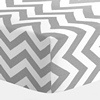 White and Gray Zig Zag Crib Sheet | Carousel Designs