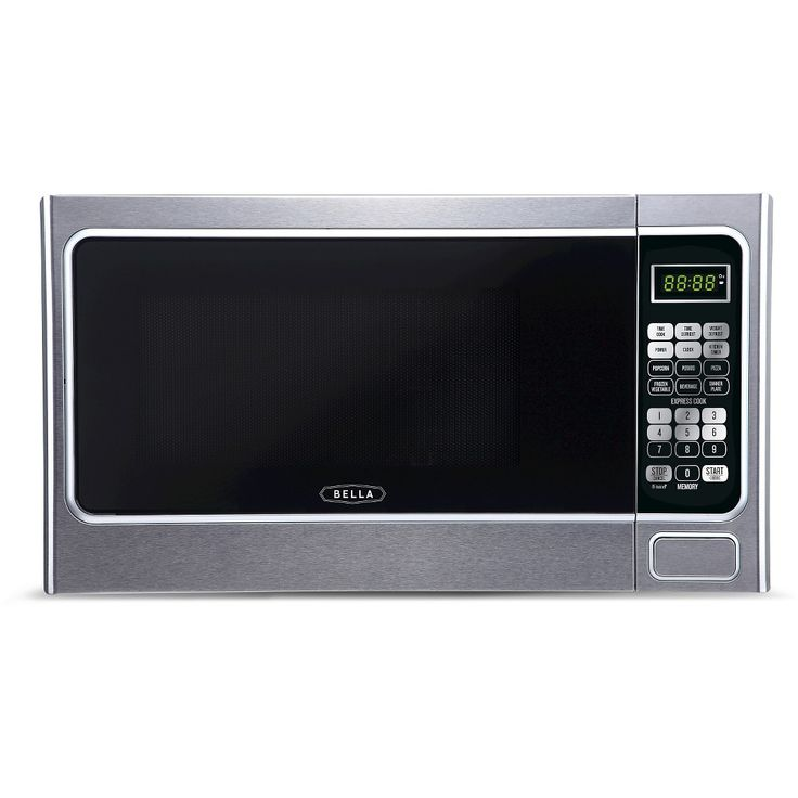 Bella 1.1 Cu. Ft. 1000 Watt Microwave Oven - Silver, Light Silver