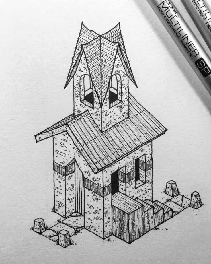 Inktober No.3. This year I'm doing something a little different - 31x31x31. 31 days, 31 drawings, £31 each (including UK postage). Every day throughout October I'll draw one little isometric house or building like this, every one will be unique, and...