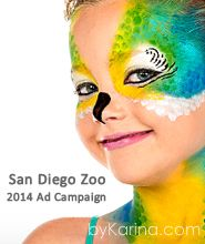 san diego zoo face paint parrot girl