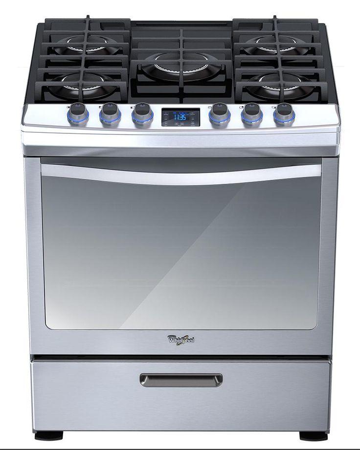 Estufa 30 39 39 al piso gas on glass wf9995s whirlpool - Cocina de gas precios ...