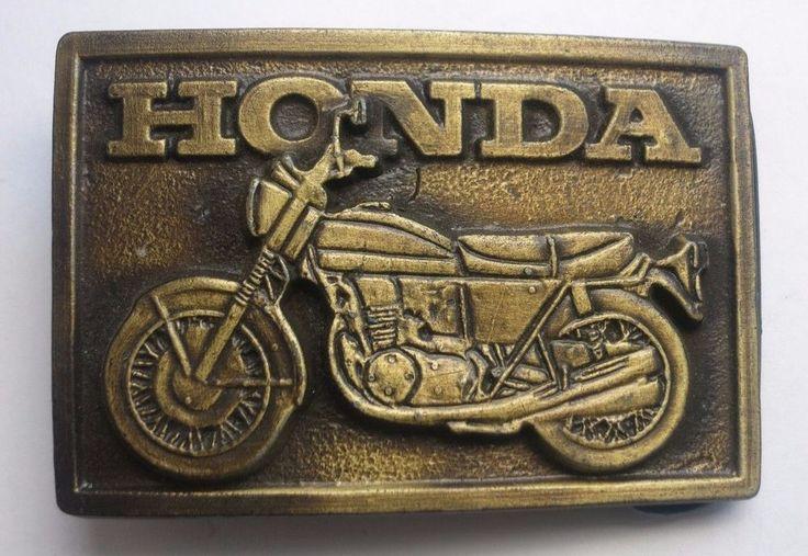 HONDA MOTOR CYCLE Belt BUCKLE BIKER BYKER Key Holder COLLECT GIFT VINTAGE  #PEWTER