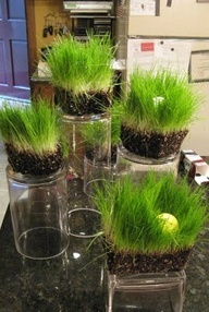 golf party decor ideas. Love the grass! Inspiration at https://www.etsy.com/shop/getthepartystarted?view_type=gallery