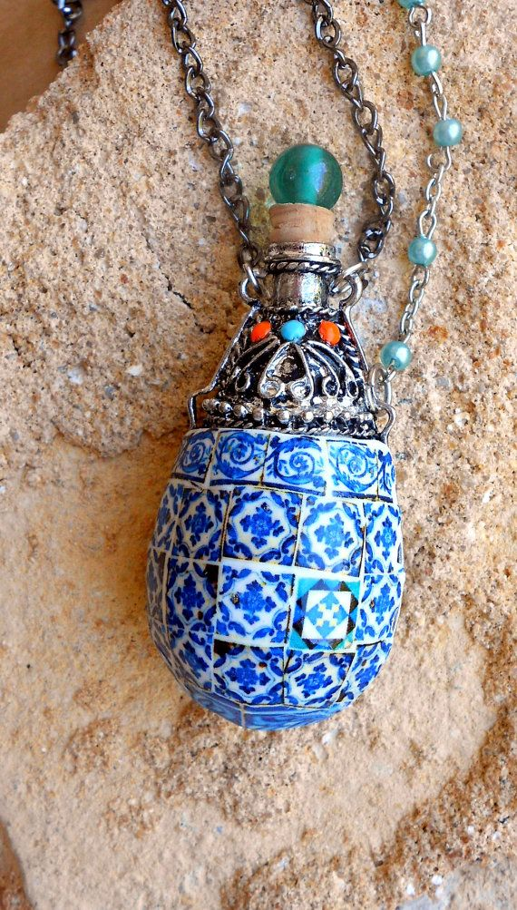 Portugal Antique Azulejo Tile Replica Perfume Vial by Atrio