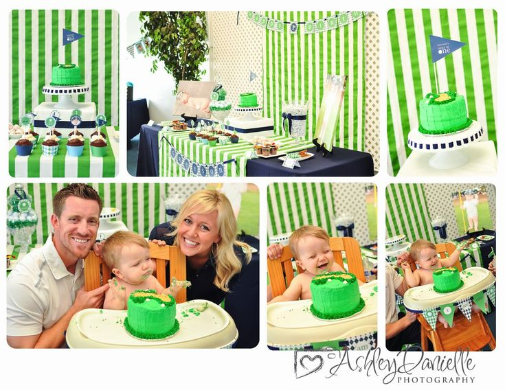 Golf themed birthday party, golf first birthday party, golf party ideas. Ashley Danielle Photography {blog}: Rancho Cucamonga | Maple Valley Photographer