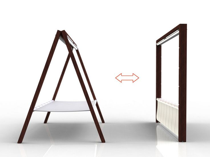 folding bed | Simplicity Folding Bed Built-In Curtain for Outdoor Use, A-bed by ... showing folded flat
