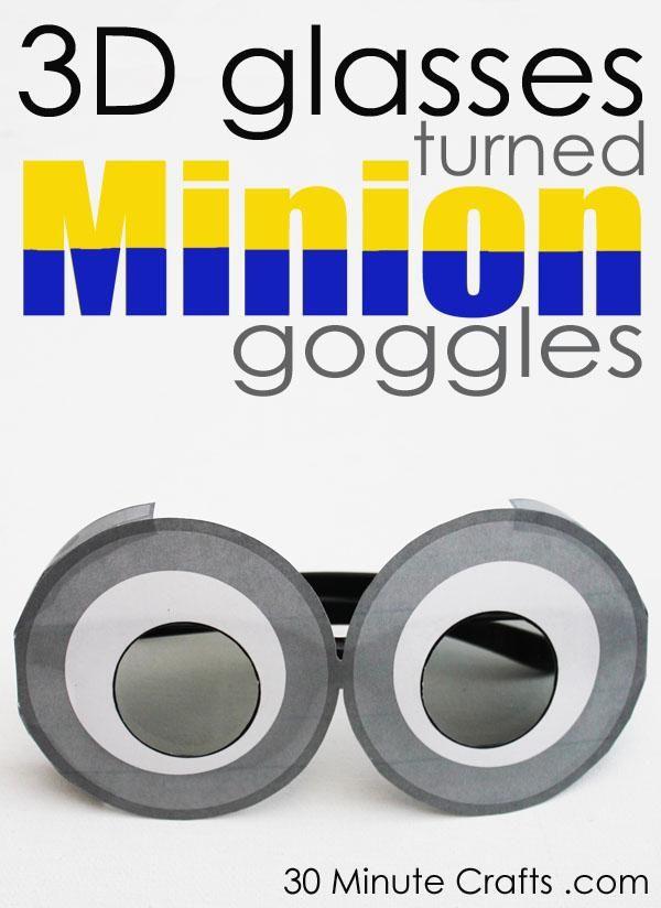 DIY Minions Crafts: 3D Minion Goggles - 30 Minute Crafts