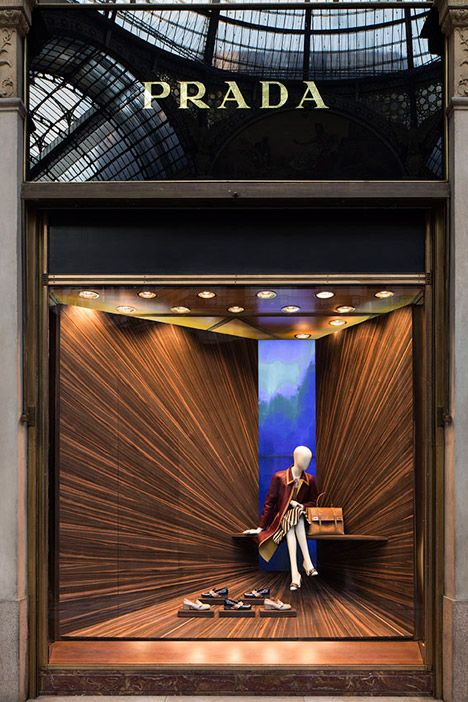 Martino Gamper for Prada calling attention to the focal point in an innovative way