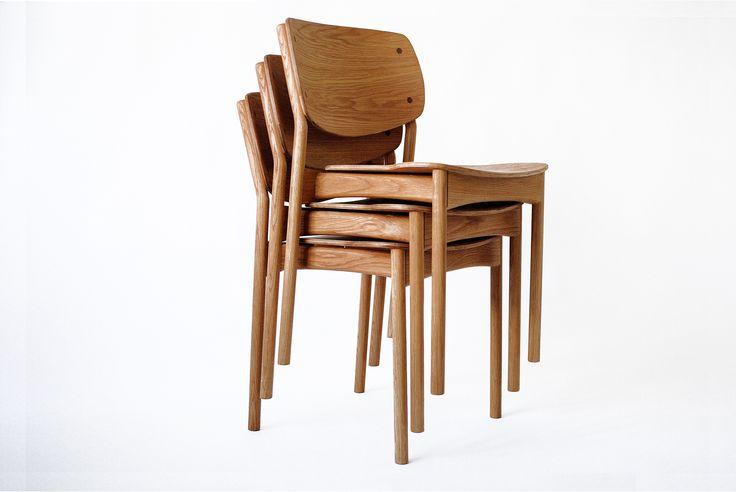 Fröja chair, stacked. Design Jonas Olsson for Möbelverket.